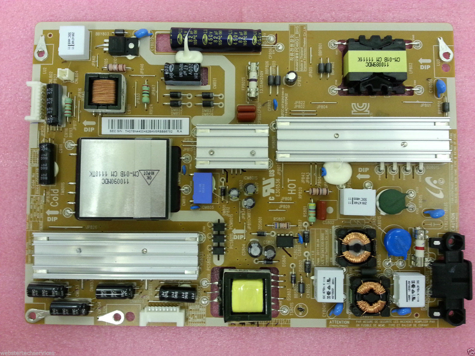 BN44-00482B New UK Stock Samsung Power Supply Board UE40D6100SK