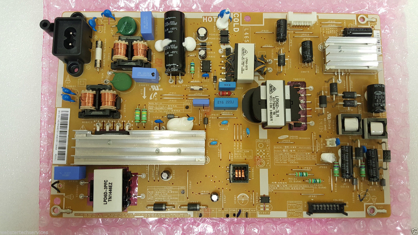 BN44-00611A Samsung Power Supply Board UE46F5300AKXXU BN4400611A