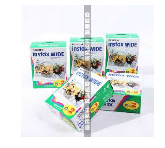 FujiFilm Instax wide Instant Film Twin Pack 5 Twin Packs 100 pho