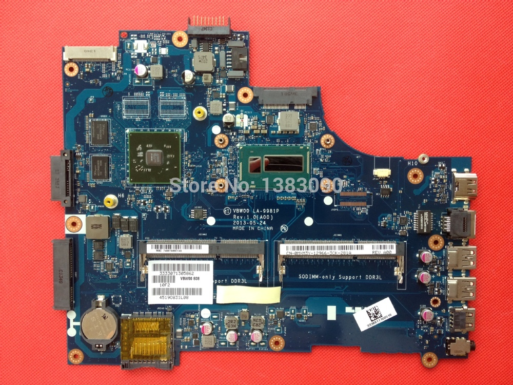 New Dell 15R 5537 W/I5-4200U CPU Motherboard VBW00 LA-9981P CN-0MXM3