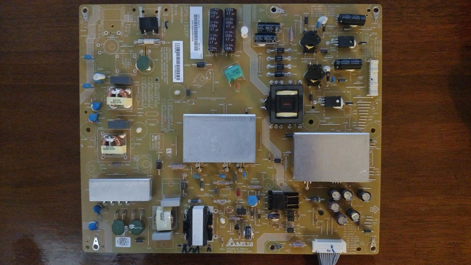 SHARP LC-60C6400U Power Board / Supply DPS-152DP A, RUNTKA931WJQ