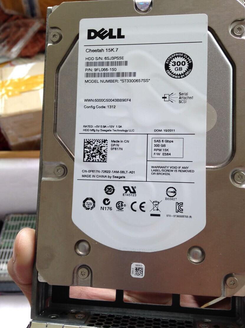 "NEW DELL 0F617N Cheetah 15K.7 300G 3.5"" SAS ST3300657SS Hard Driver"