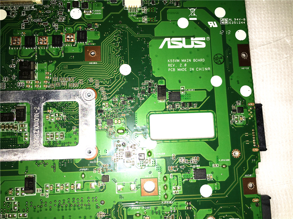 Asus K55VM REV 2.0 HM76 laptop motherboard mainboard