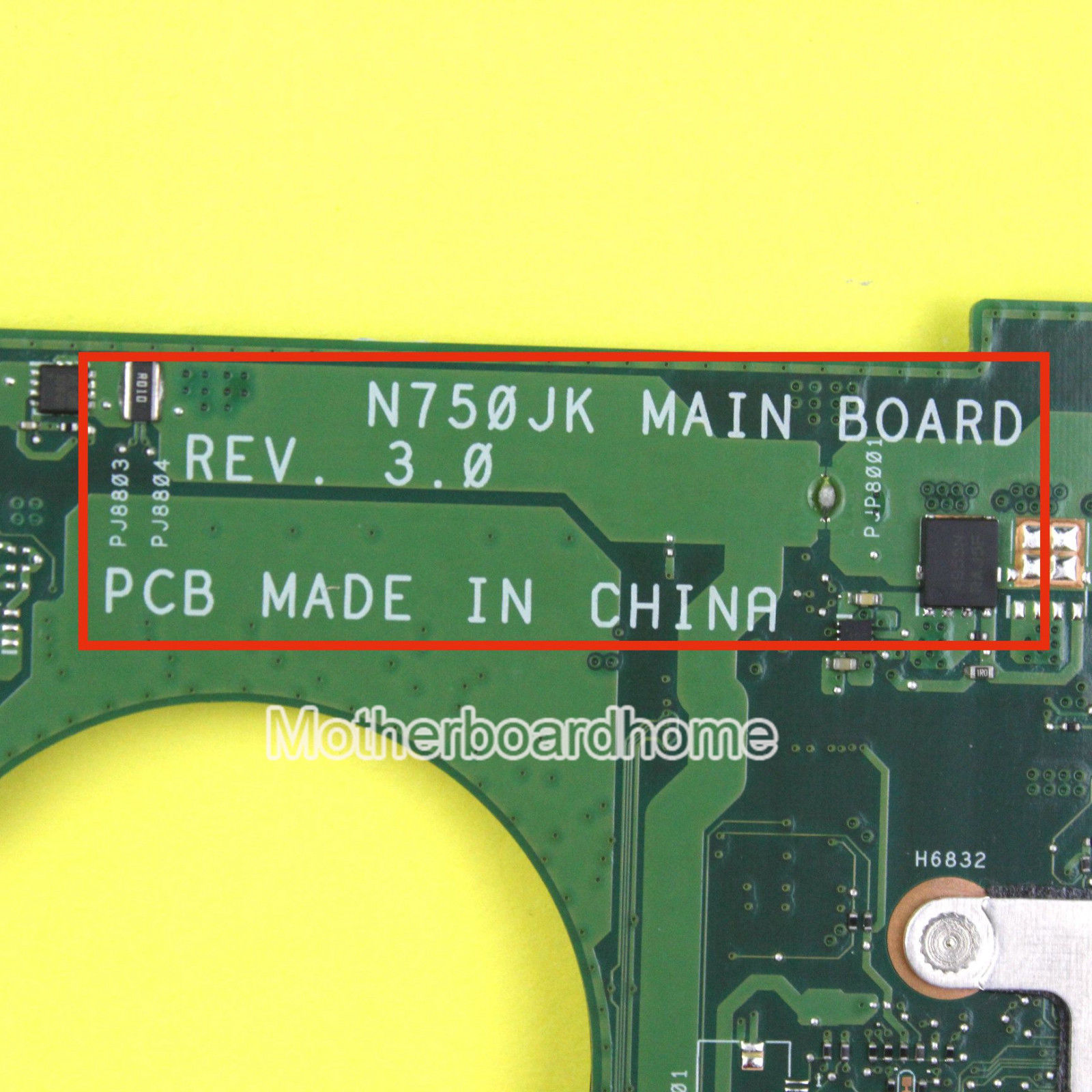 ASUS N750JV Motherboard N750JK Rev.3.0 GT740M With i7-4700HQ CPU Tested