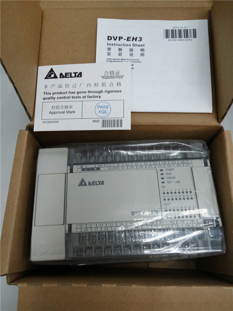 DVP32EH00T3 Delta EH2/EH3 Series PLC DI 16 DO 16 Transistor output 100-2
