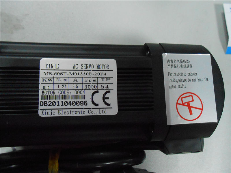 220V 0.4KW 400W 1.27N.m 3000rpm AC Servo Motor Drive kits  with 3M cable