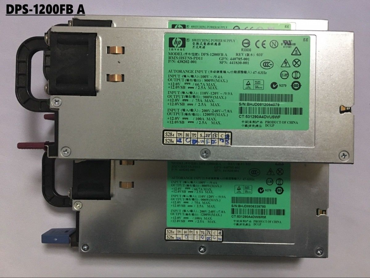 HP Power Server Power Supply For DL580G5 G6 G7 DPS-1200FB A 438202-001