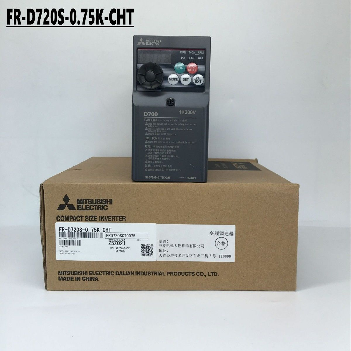 Brand New MITSUBISHI Inverter FR-D720S-0.75K-CHT IN BOX FR-D720S0.75KCHT