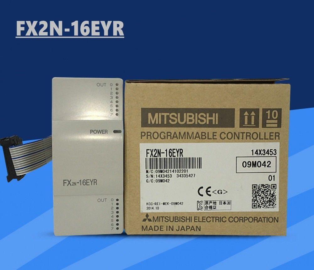 100% New MITSUBISHI PLC FX2N-16EYR In Box FX2N16EYR