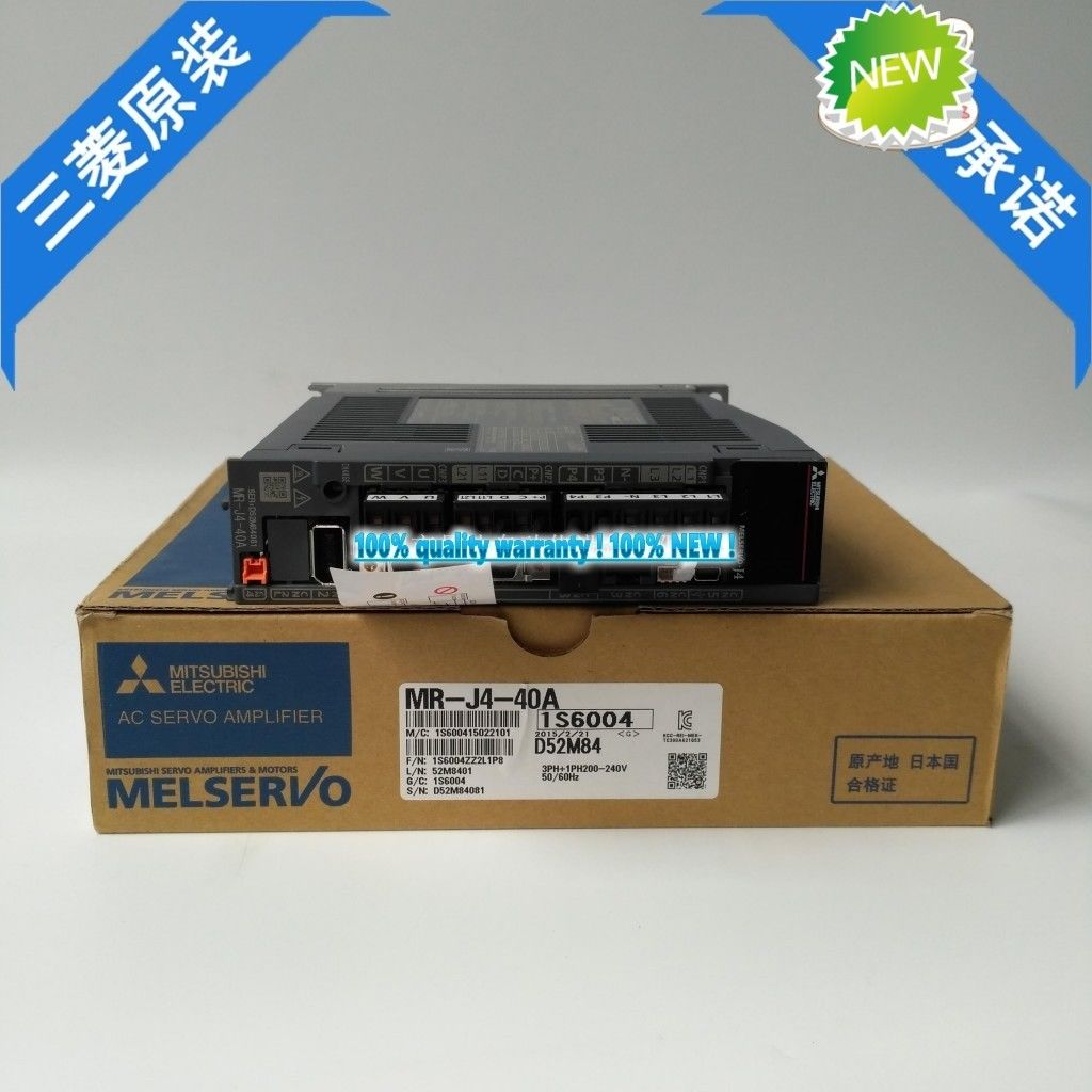100% New Mitsubishi Servo Drive MR-J4-40A In Box MRJ440A