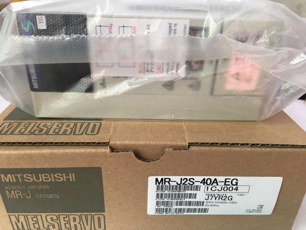 100% New Mitsubishi Servo Drive MR-J2S-40A-EG In Box MRJ2S40AEG