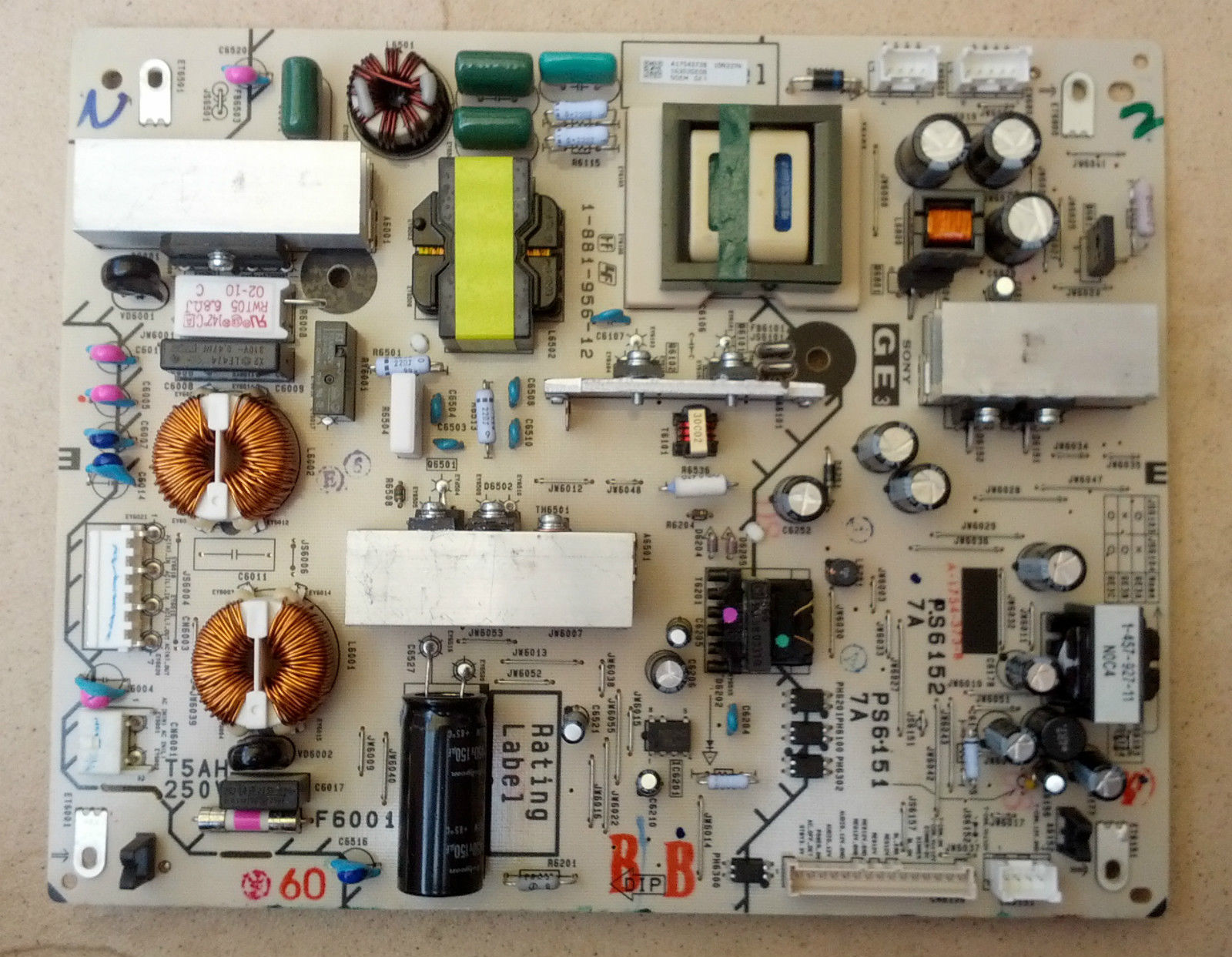 KDL-40EX700 POWER SUPPLY BOARD GE3 BOARD 1-881-956-12
