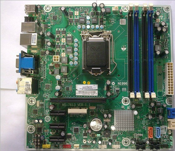 hp desktop motherboard 614494-001 612500-001,Iona GL8E MS-7613 H