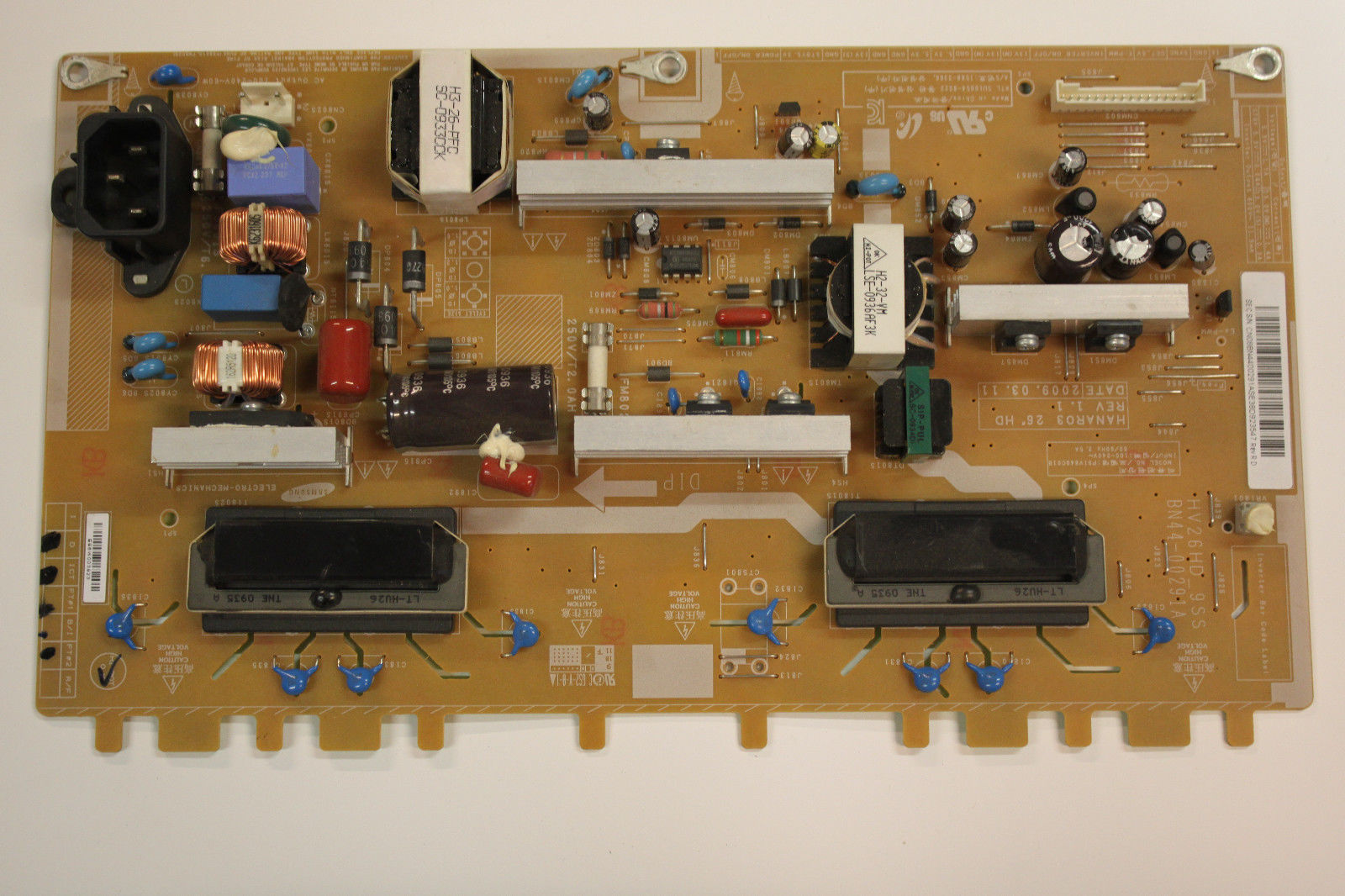 SAMSUNG LE26B350F1W POWER SUPPLY BOARD BN44-00291A