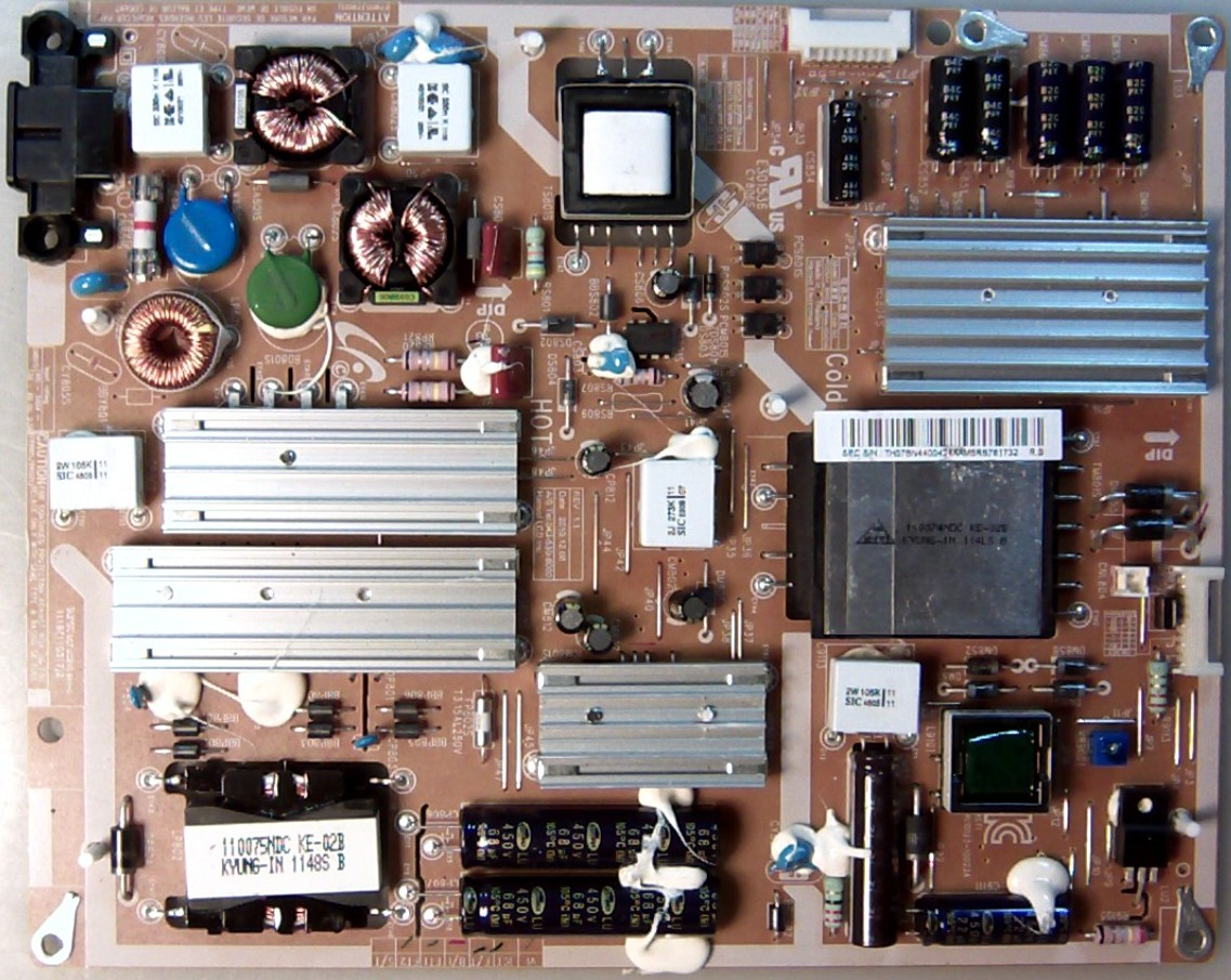 SAMSUNG UN55D6000 FSXZA LED TV BN44-00424A POWER SUPPLY BOARD