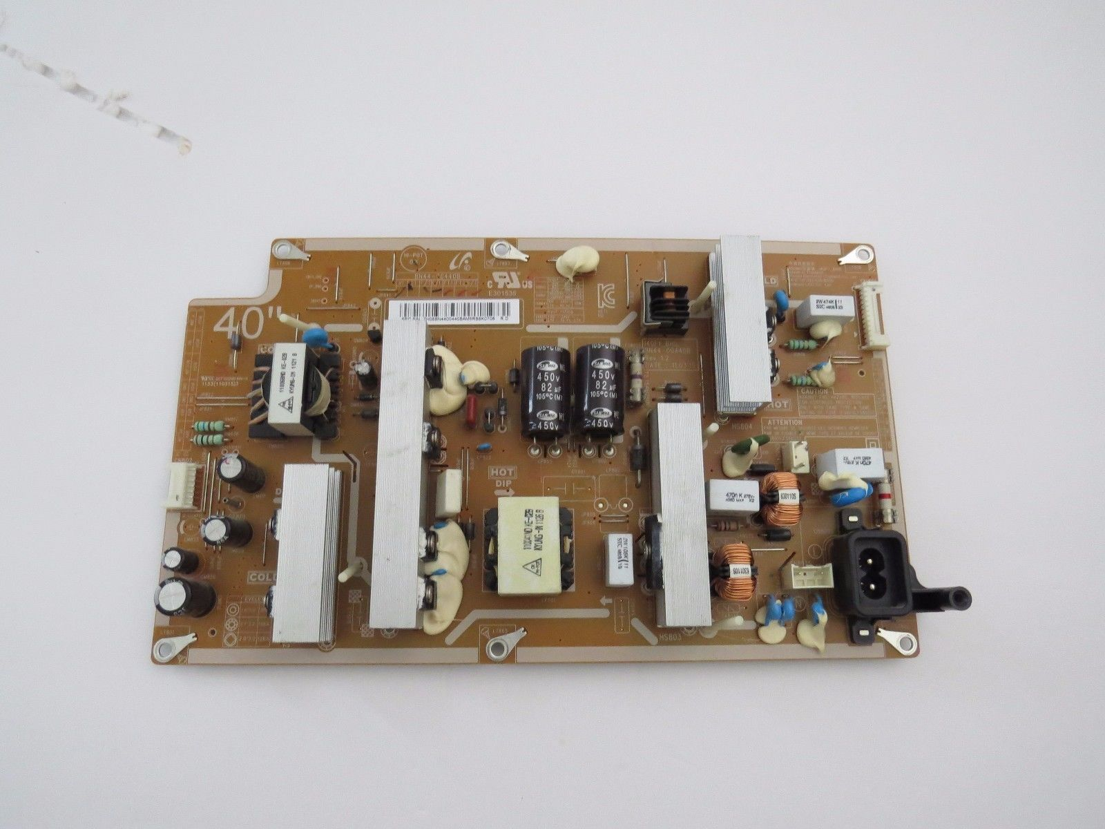 Samsung LN40D550K1F Power Supply Board BN44-00440A 140F1_BSM tes