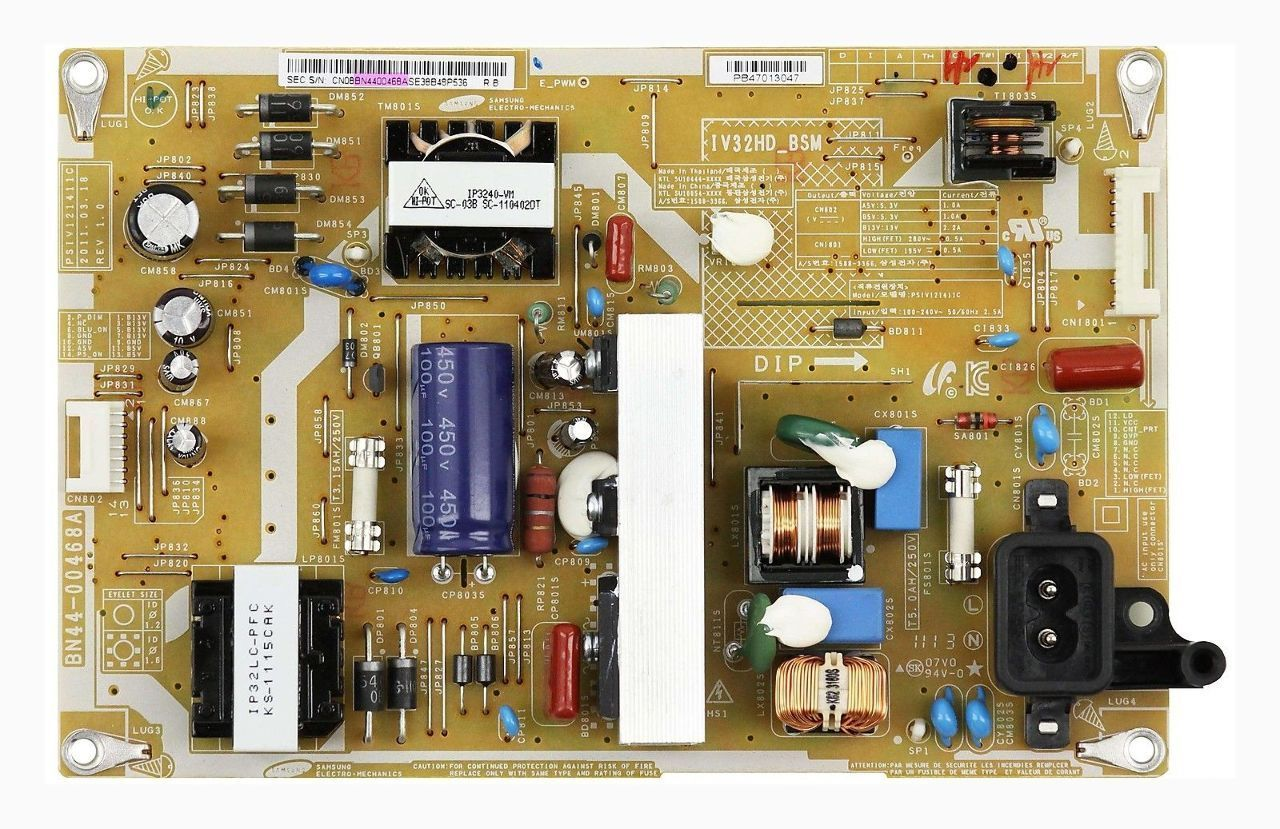 "Samsung 32"" LN32D403 BN44-00468A LCD Power Supply Board Unit"
