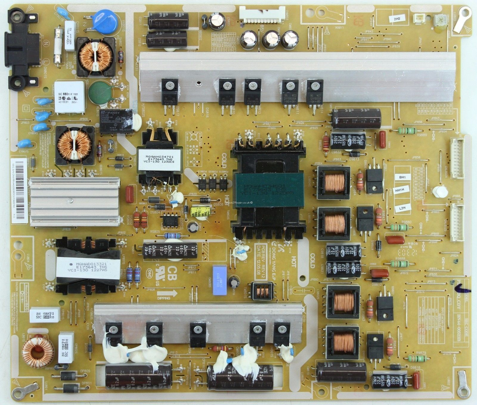 "Power supply board from Samsung 55"" LED TV UE55ES8000 BN44-00523"