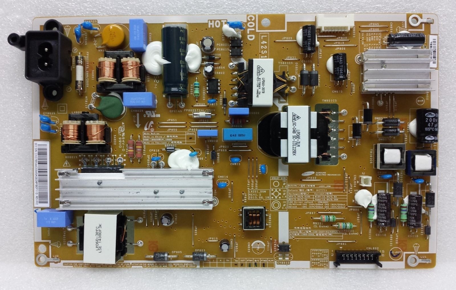 Samsung BN44-00645A (KTL SU10054-XXXX) Power Supply / LED Board