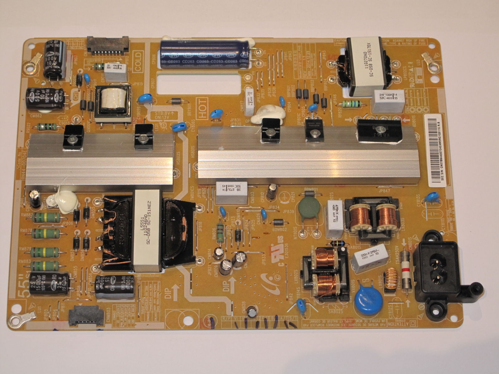 SAMSUNG UE50J5550SU Netzteil Power Supply Board L55S1_FHS Rev 1.