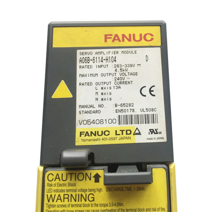 USED FANUC SERVO AMPLIFIER A06B-6114-H104 A06B6114H104 EXPEDITED SHIPPING