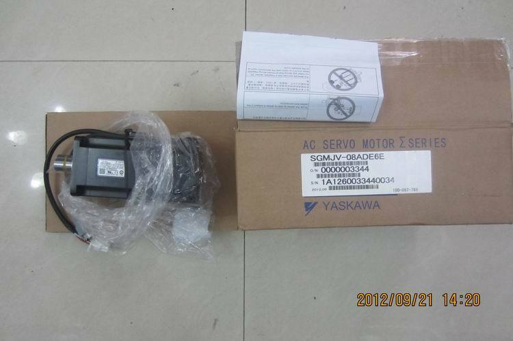 1PC NEW ORIGINAL YASKAWA AC SERVO MOTOR SGMJV-08ADE6E EXPEDITED SHIPPING