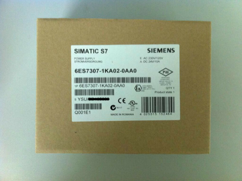 NEW SIEMENS POWER SUPPLY MODULE 6ES7307-1KA02-0AA0 EXPEDITED SHIPPING