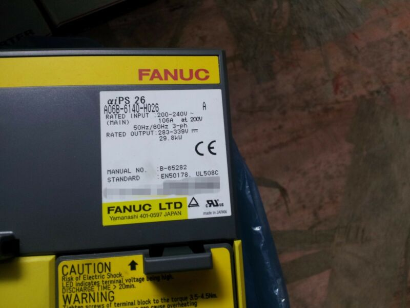 NEW ORIGINAL FANUC POWER SUPPLY A06B-6140-H026 EXPEDITED SHIPPING