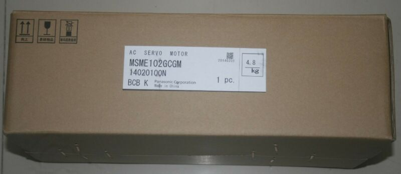 1PC PANASONIC AC SERVO MOTOR MSME102GCGM NEW ORIGINAL