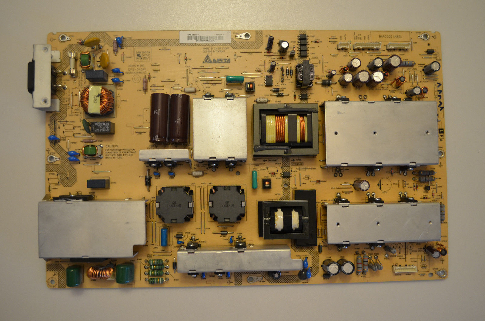 Sharp LC-60E88UN Power Supply Board DPS-343AP tested