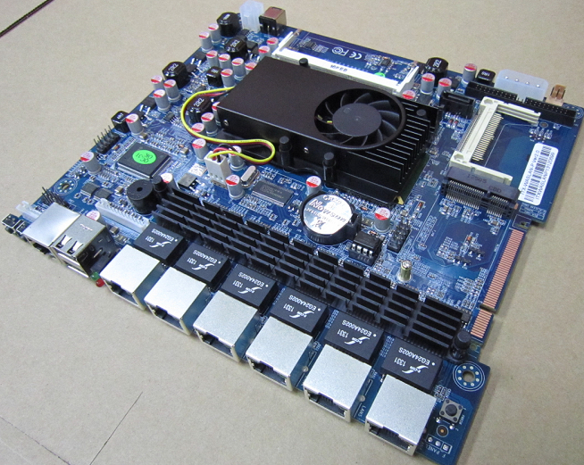 6 network port D525 motherboard ITX-WASLAN-P low work cost ros Dimension Leagueway