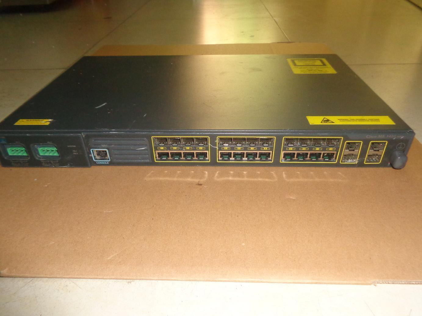 Cisco ME-3400G-12CS-D 12-Port Gb SFP Ethernet Access Switch DC Power Supply