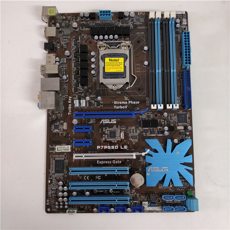 ASUS P7P55D LE Motherboard LGA1156 Chipset Intel P55 DDR3 With I/O Shield