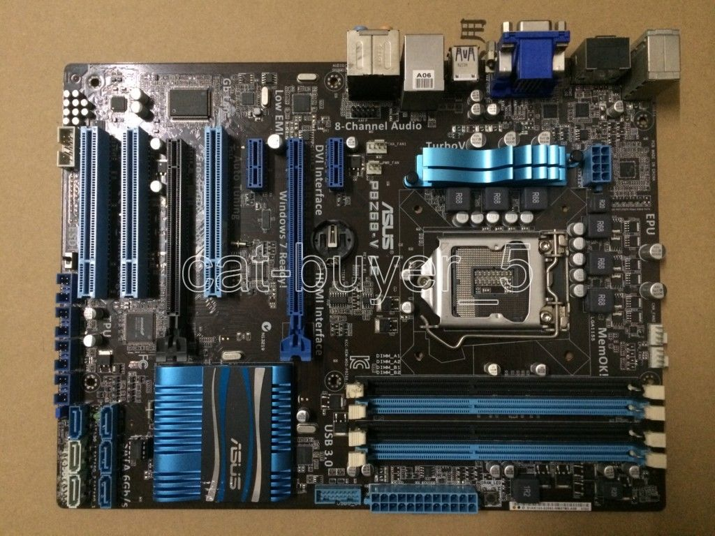 ASUS P8Z68-V LE Motherboard LGA1155 Intel Z68 VGA DVI HDMI With I/O Shield