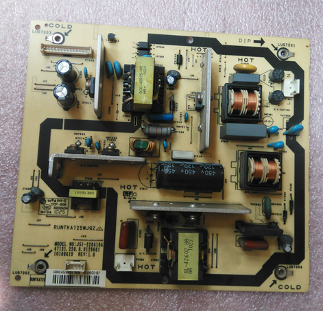 RUNTKA725WJQZ Sharp JSI-320410A Power Board (PB-PJL-161223-03 )