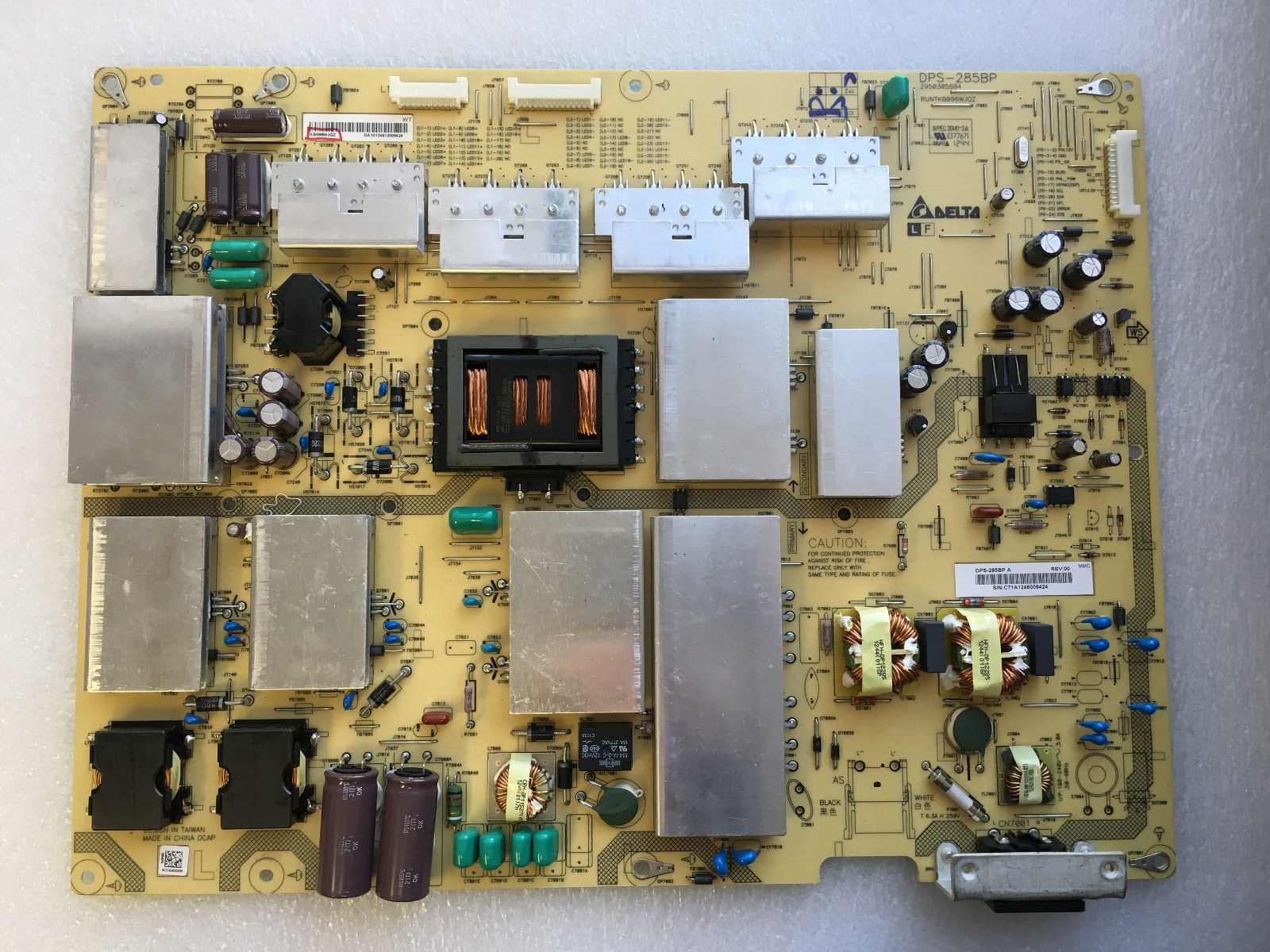 Sharp RUNTKB096WJQZ (DPS-285BP A) Power Supply LED Board