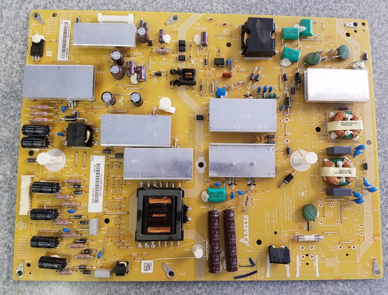 Sharp RUNTKB109WJQZ DPS-167CP A LC-60EQ10U Power Supply Board