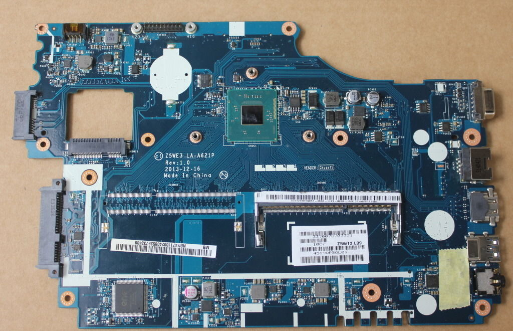 Z5WE3 LA-A621P NBC3A11001 for ACER Aspire E1-510 Laptop Motherbo