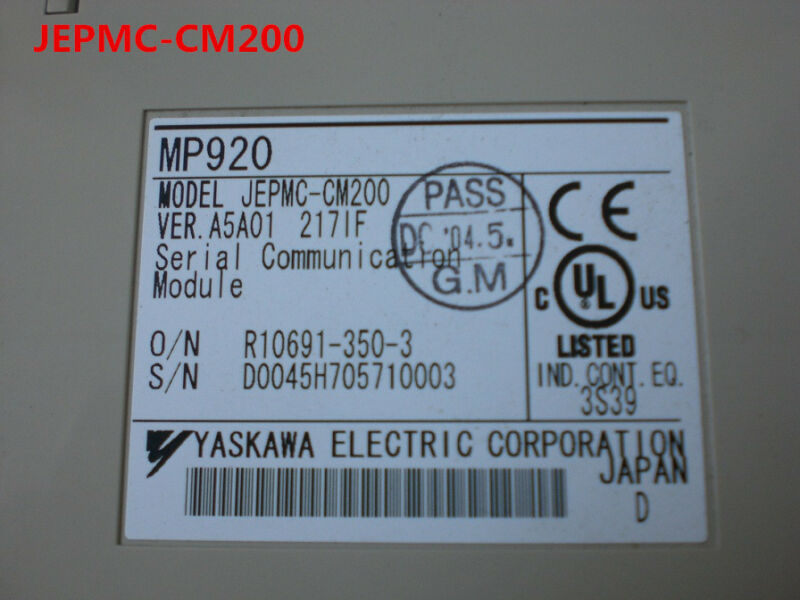 YASKAWA JEPMC-CM200 JEPMCCM200 tested and used in good condition