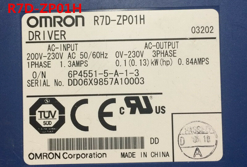 OMRON R7D-ZP01H R7DZP01H used and tested