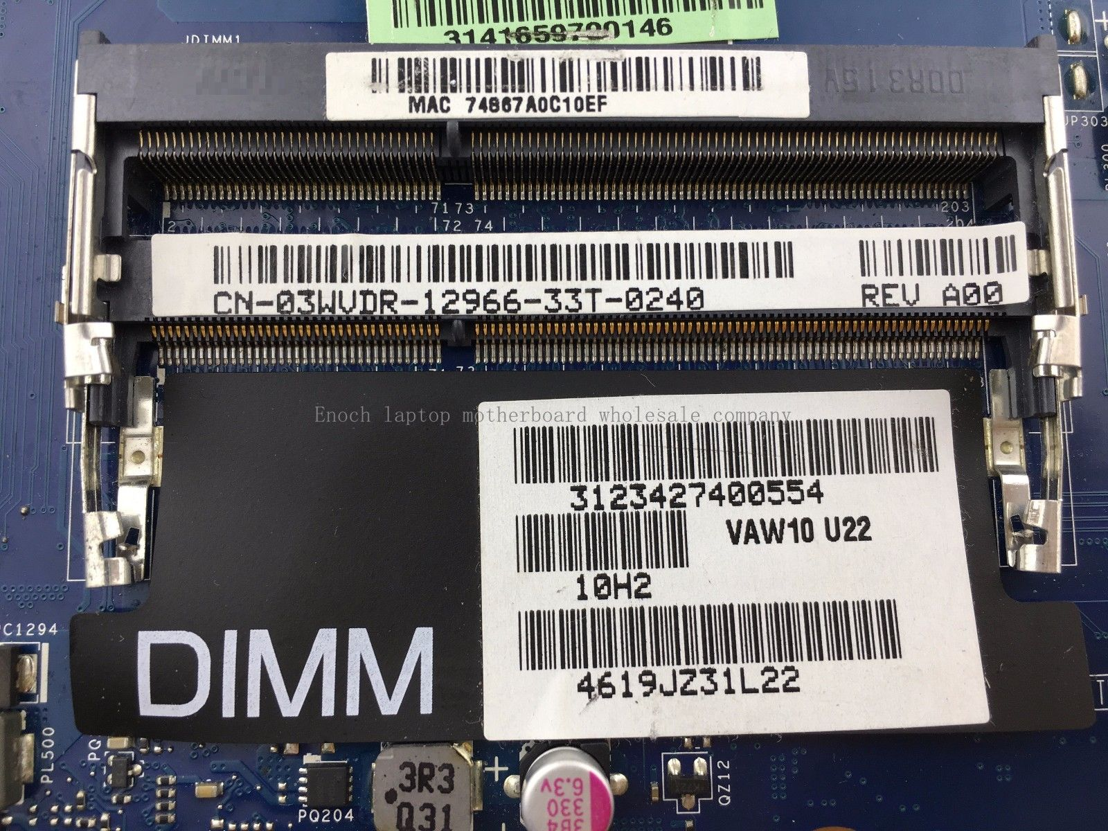 Dell 3721 3521 5721 integrated 03WVDR LA-9102P I5-3337U CPU