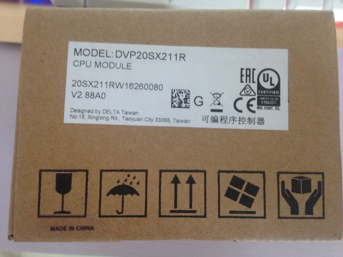 DVP20SX211R Delta SX2 Series Analog PLC DI8 AI4 DO6 Relay AO2 24VDC new