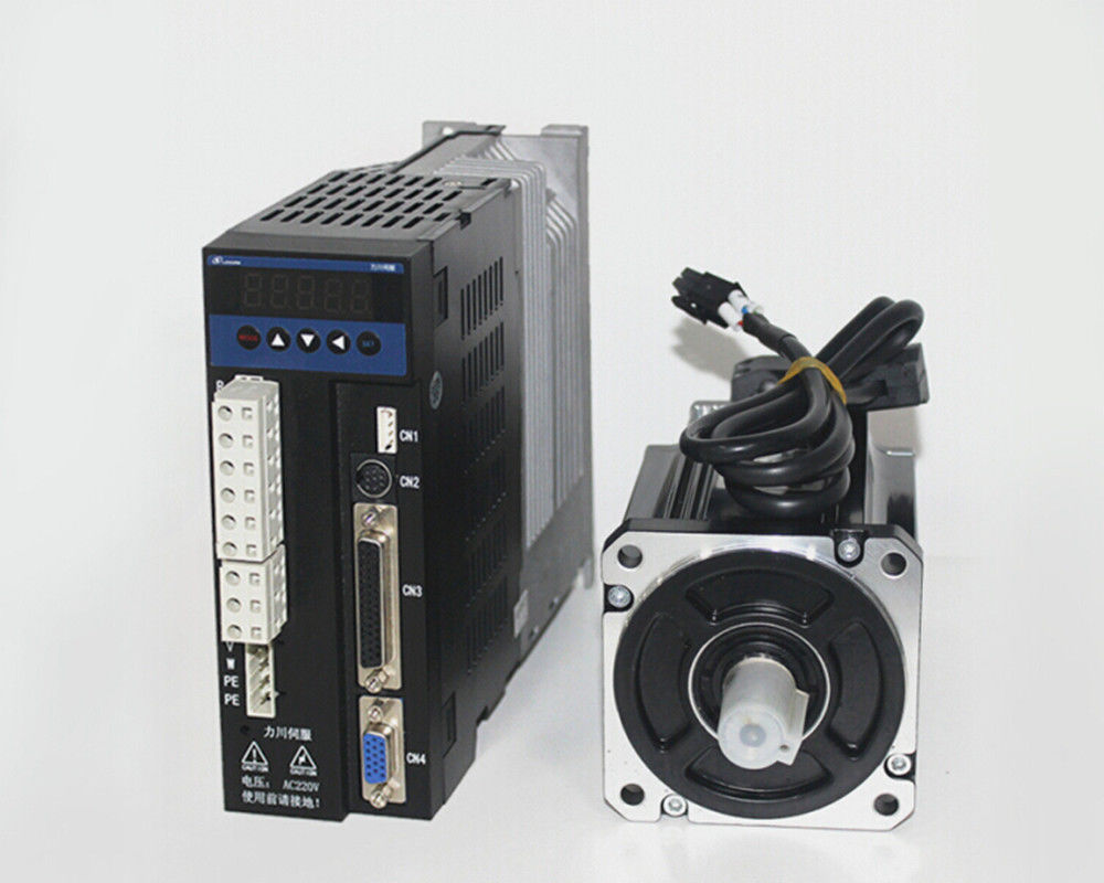 single phase 220V 400w 0.4KW 1.27N.m 3000rpm 60mm AC servo motor drive k