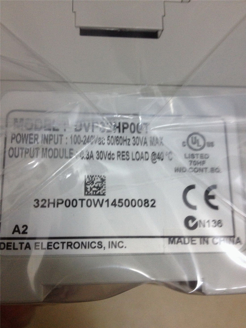 DVP32HP00T Delta EH2/EH3 Series PLC Digital Module DI 16 DO 16 Transisto