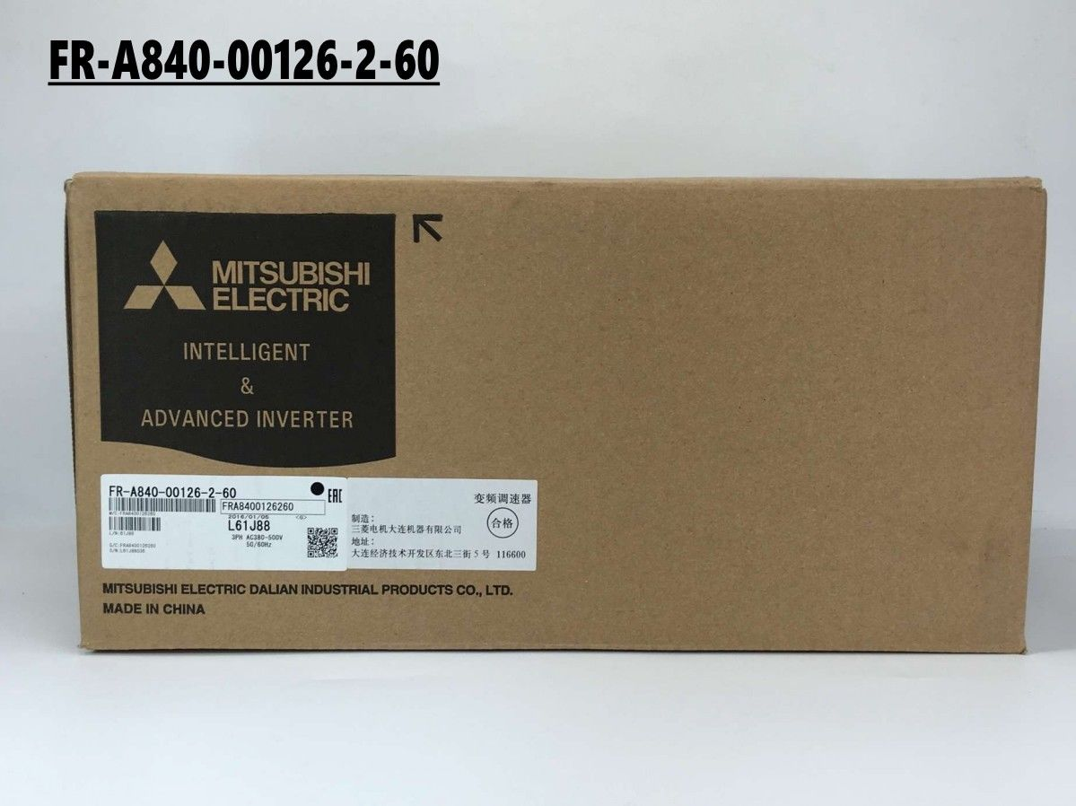 100% New MITSUBISHI PLC FR-A840-00126-2-60 3.7KW IN BOX FRA84000126260
