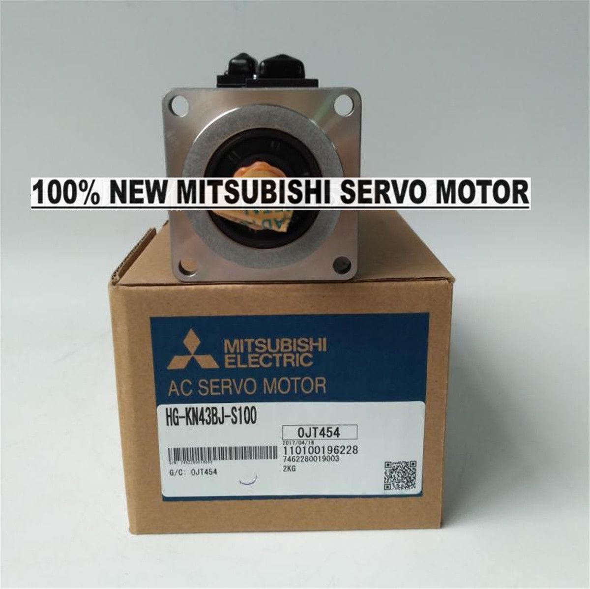 GENUINE NEW Mitsubishi Servo Motor HG-KN43BJ-S100 in box HGKN43BJS100
