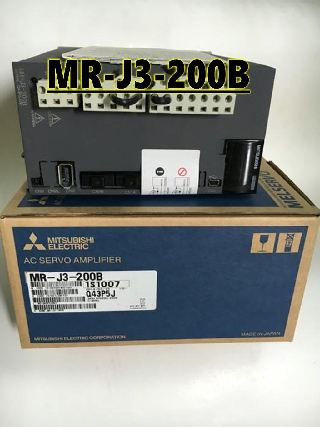 100% New Mitsubishi Servo Drive MR-J3-200B In Box MRJ3200B