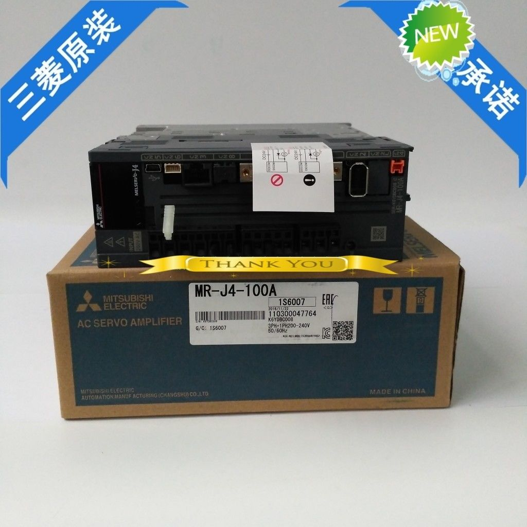 100% New Mitsubishi Servo Drive MR-J4-100A In Box MRJ4100A