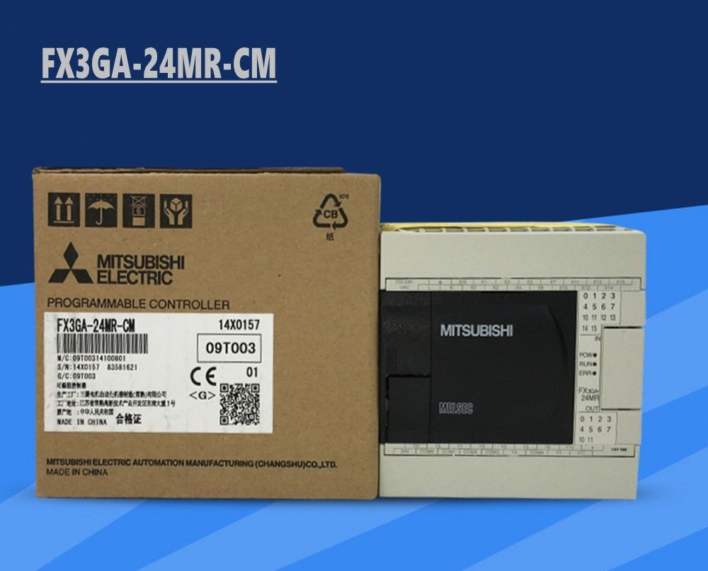 New MITSUBISHI PLC FX3GA-24MR-CM In Box FX3GA24MRCM
