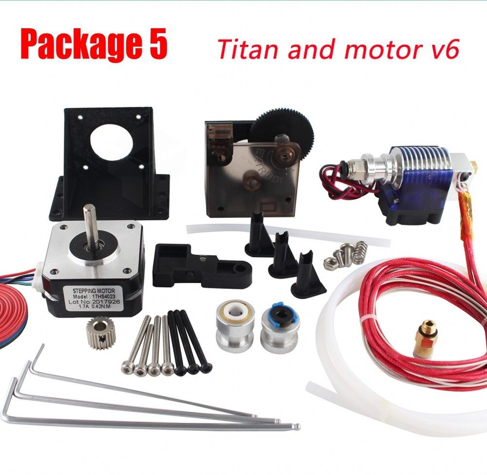 Free shipping Titan Extruder Full Kit with NEMA 17 Stepper Motor for 3D Printer
